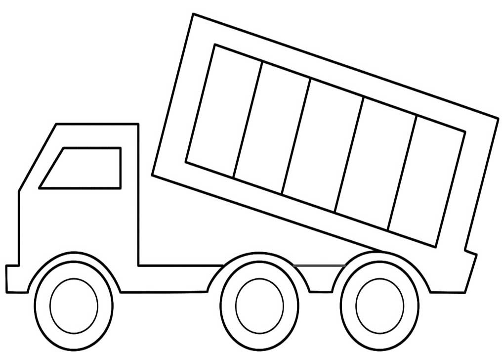 Simple Dump Truck Coloring Pages