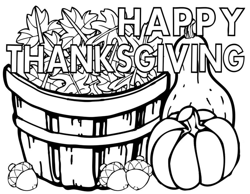 Printable Thanksgiving Coloring Pages Coloring Coloring Pages