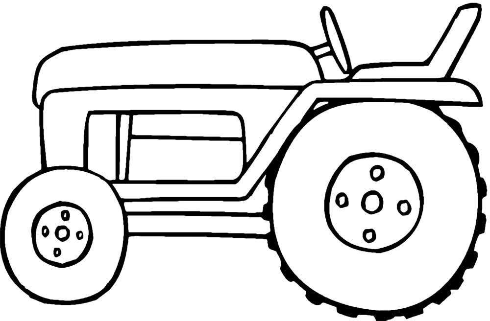 25 best tractor coloring pages to print for Tractor template to print