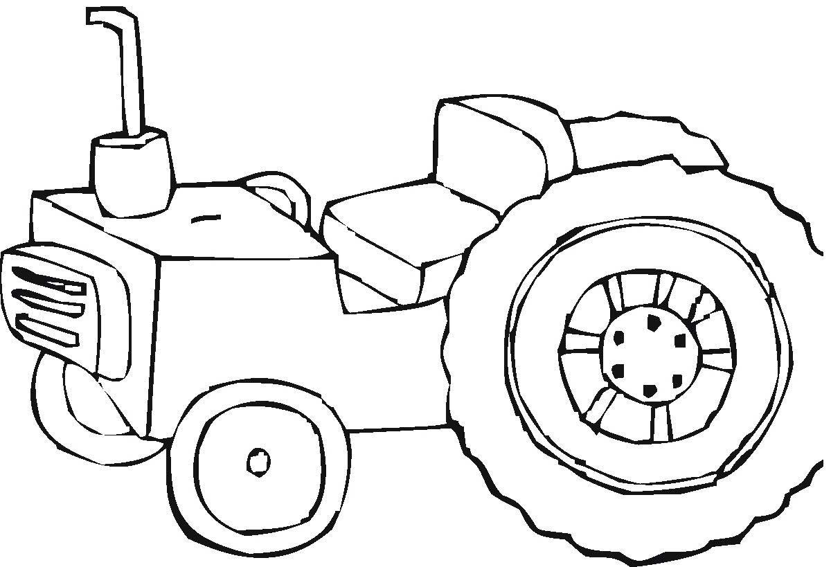 Coloring pages tractors