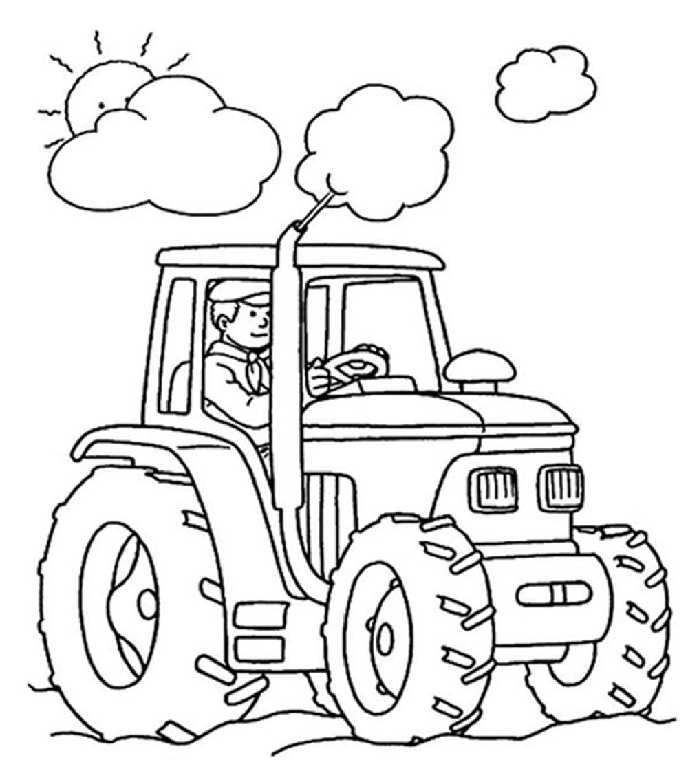 Tractor Coloring Pages Printable