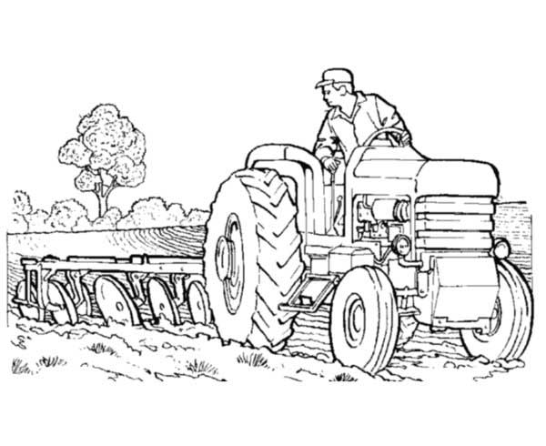 Tractor Pulling Coloring Pages