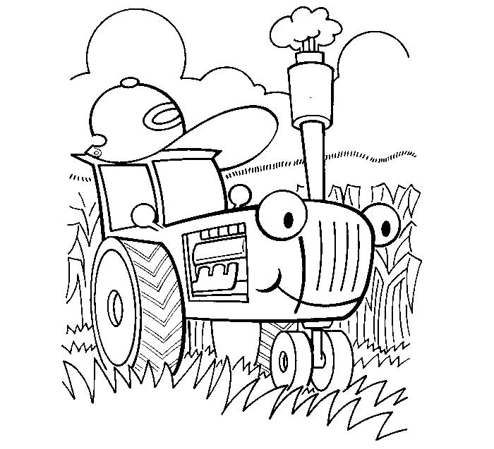Tractor Tom Coloring Pages