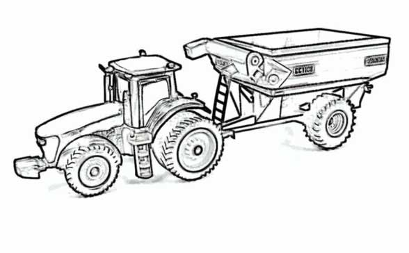 25 Best Tractor Coloring Pages To Print Tractor Trailer Coloring Pictures