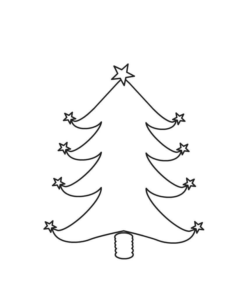 Christmas Tree Coloring Pages Blank Tree Coloring Page