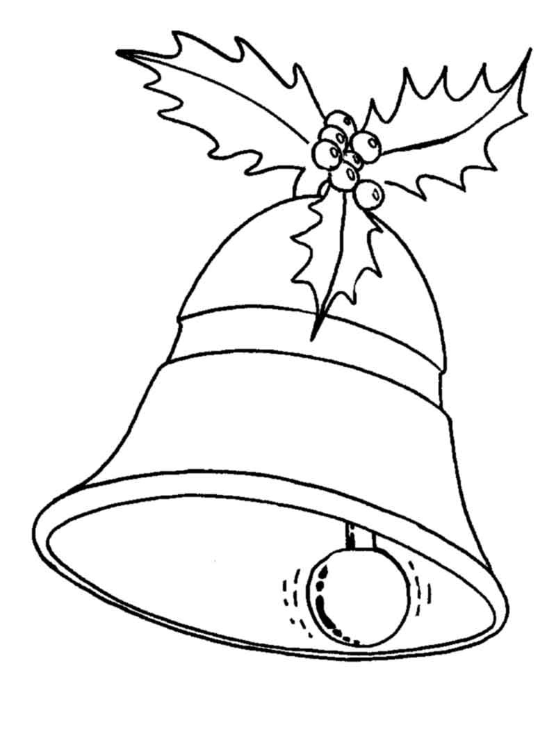 Christmas Bells Coloring Pages Free