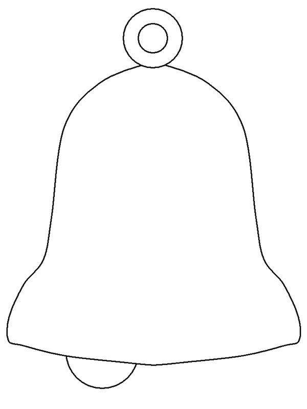 Christmas Bells Coloring Pages OutlineChristmas Bells Coloring Pages Outline