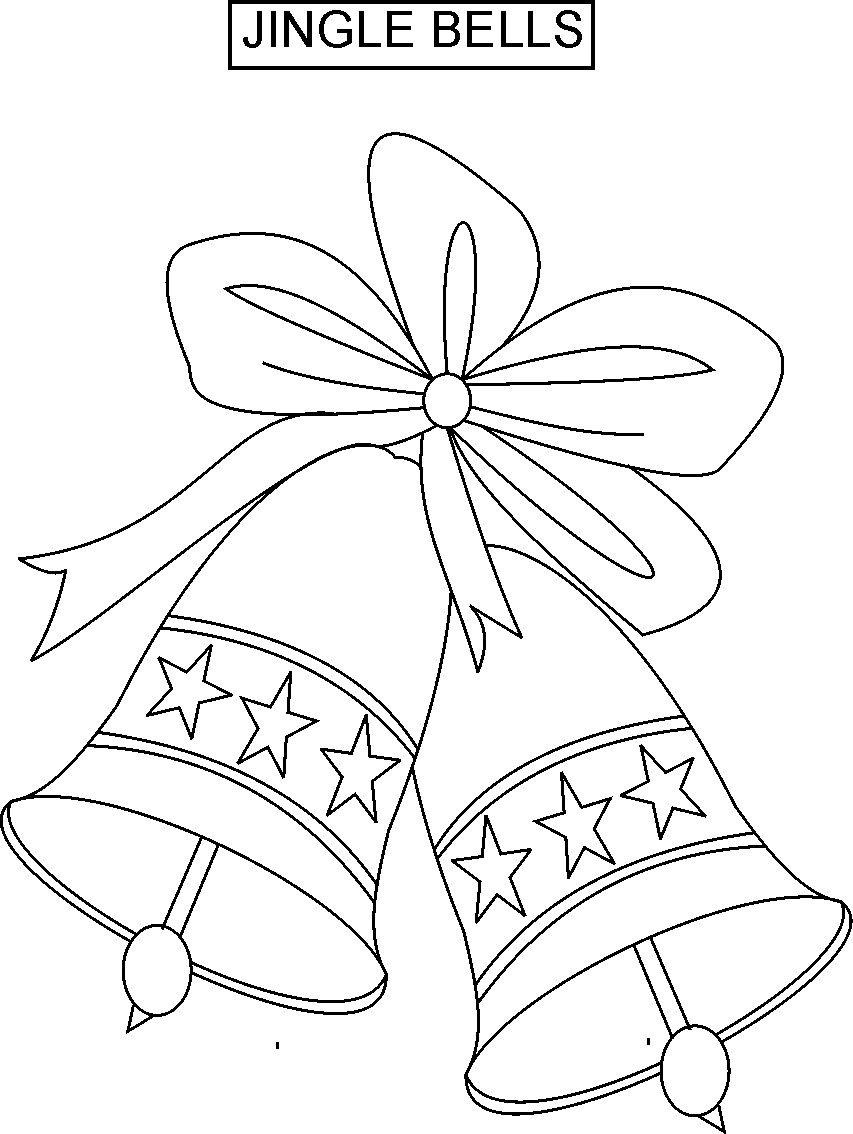 Christmas Coloring Pages Jingle Bells