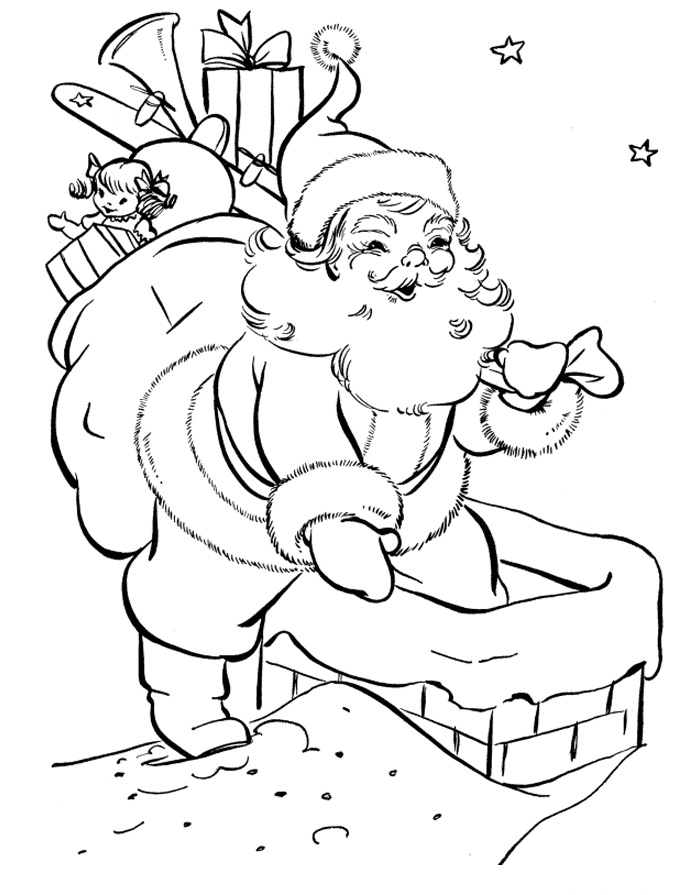 Christmas Santa Claus ColoriChristmas Santa Claus Coloring Pages