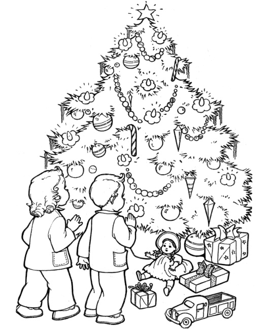 Christmas Tree Coloring Pages for adultsChristmas Tree Coloring Pages for adults