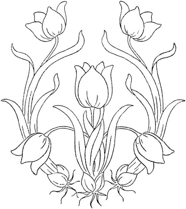 Cool Flower Coloring Pages For Adults