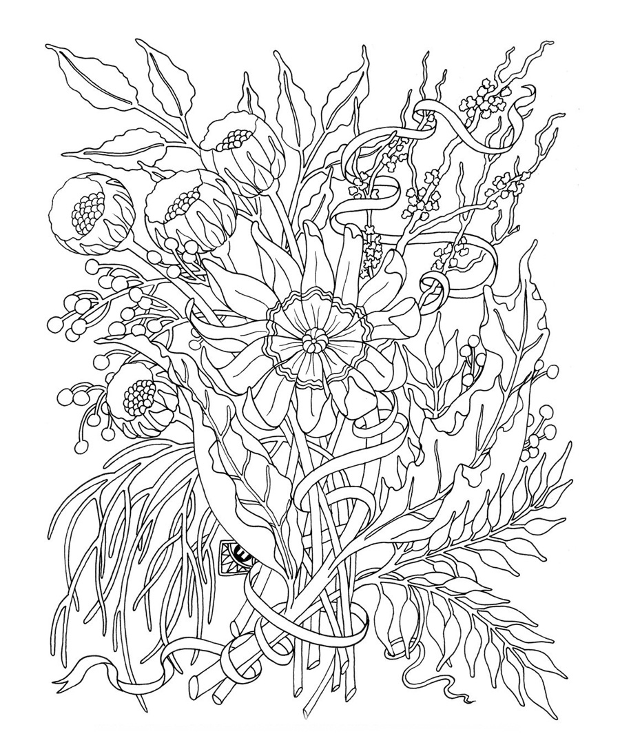 Detailed-Flower-Coloring-Pages-For-Adults