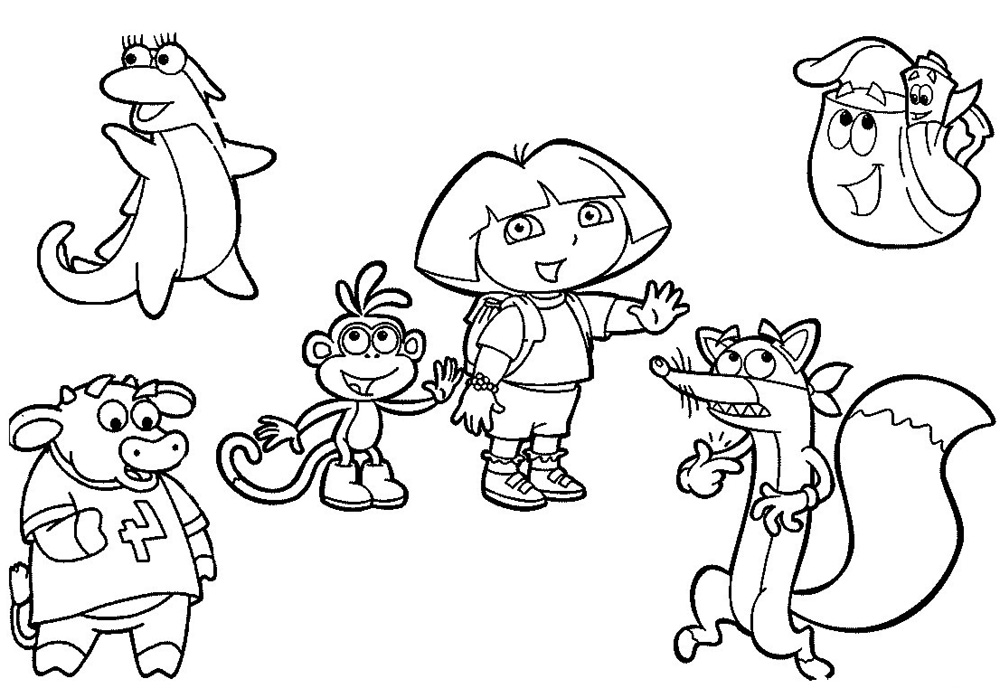 dora and friends coloring pages - Dora The Explorer Pictures To Color And Print