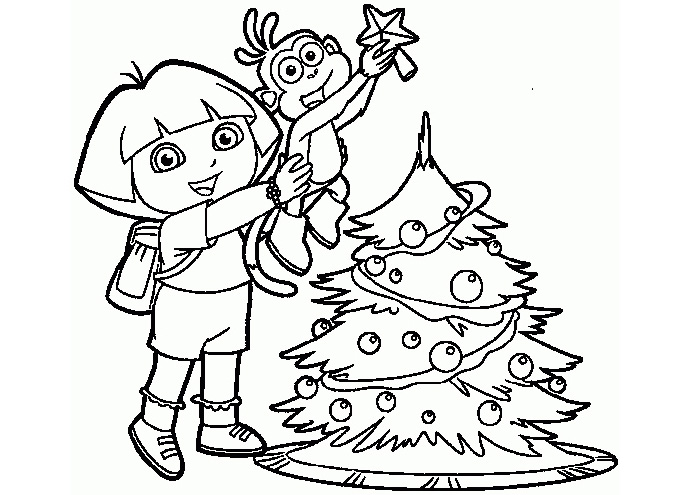 christmas tree present coloring pages - photo#31