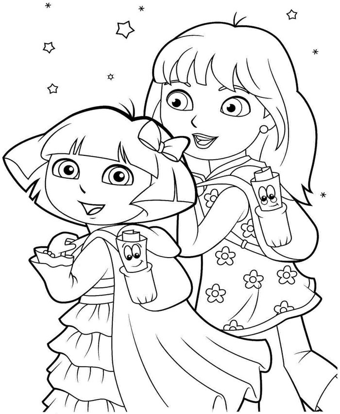 25 wonderful dora the explorer coloring pages for Dora the explorer coloring pages online free