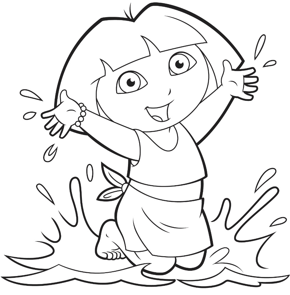 25 wonderful dora the explorer coloring pages for Dora mermaid coloring pages