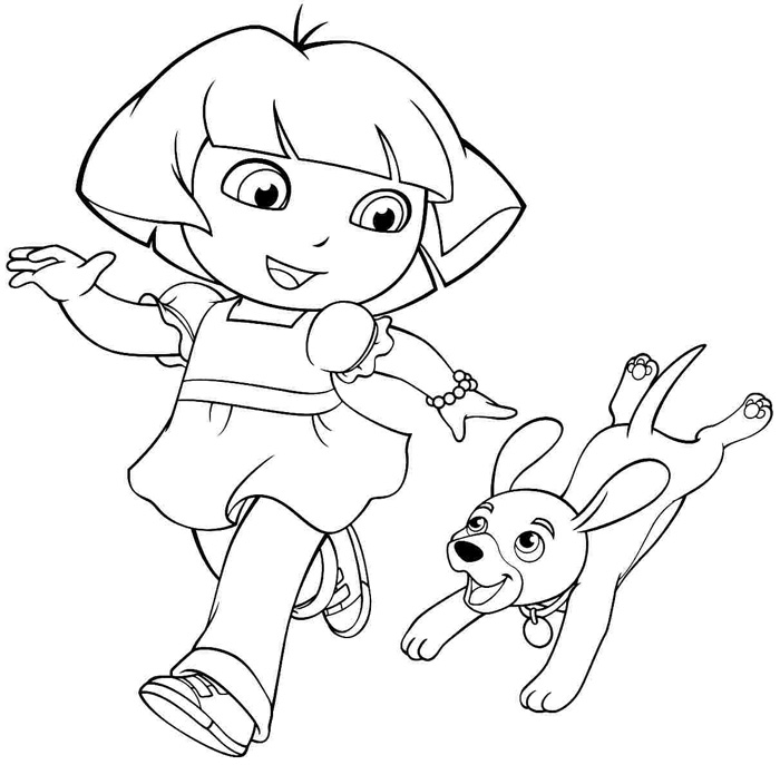 free coloring pages for dora - photo#14