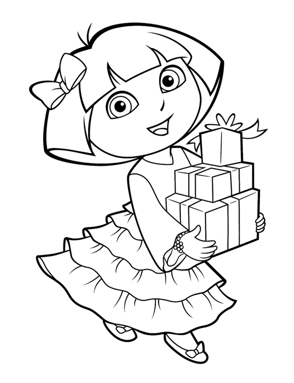 25 wonderful dora the explorer coloring pages for Dora the explorer coloring pages printable