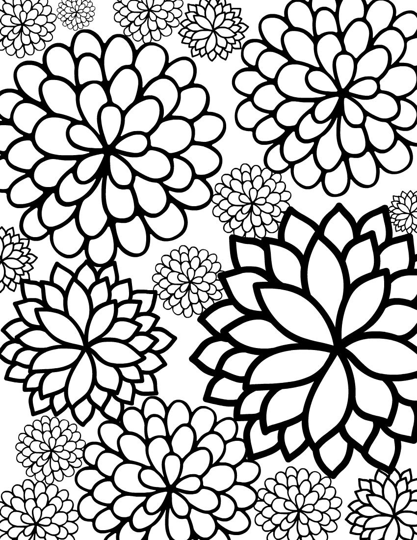 flower adult coloring pages flower coloring pages for adults
