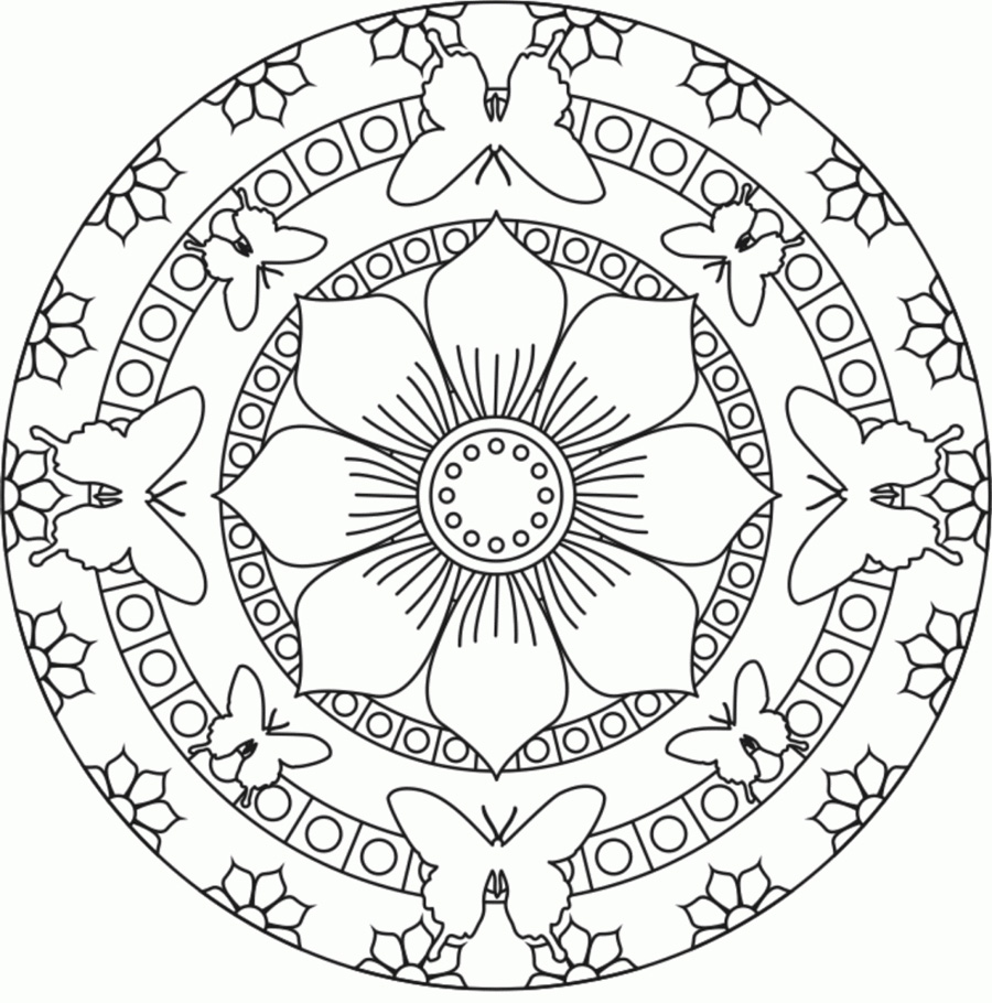 Flower Mandala Coloring Pages For Adults