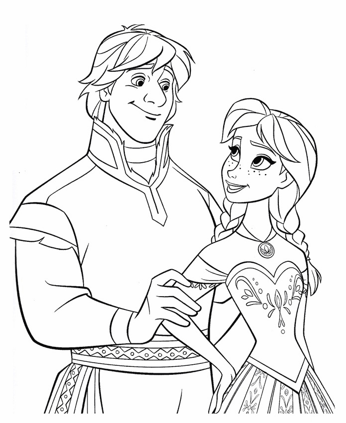 auna frozen coloring pages - photo#5