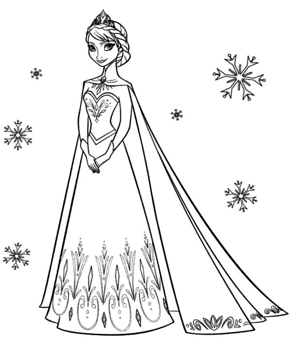 Elsa Frozen Coloring Pages Simple Disney Frozen Coloring Pages To Download Decorating Inspiration