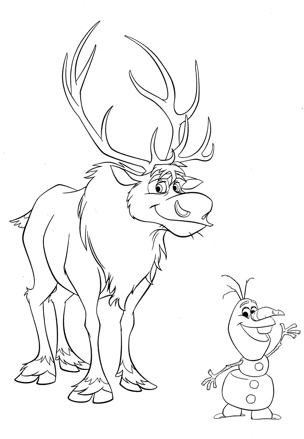 Disney frozen coloring pages to download for Sven coloring pages