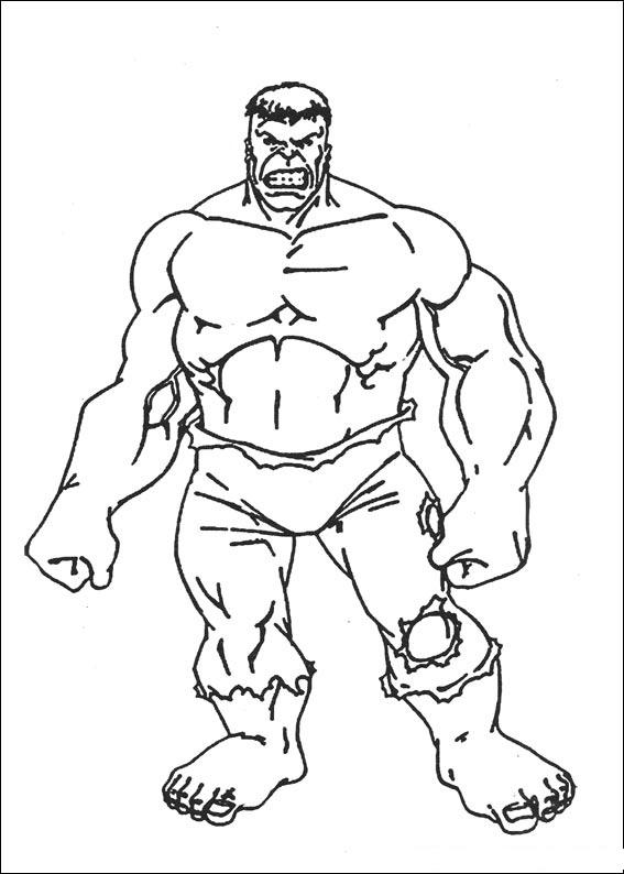 Hulk Coloring Pages Free Printable