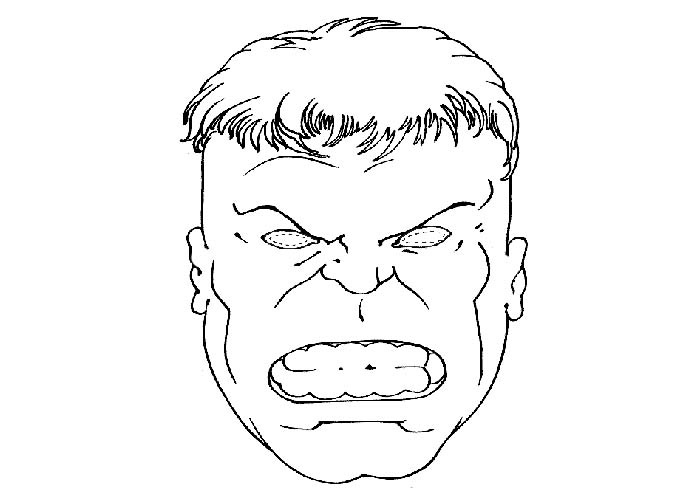Hulk Face Line Drawing : Incredible hulk coloring pages printable