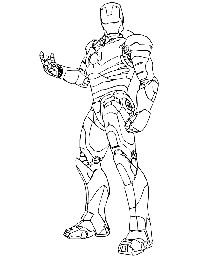 Wonderful iron man coloring pages for kids for Ironman coloring pages free