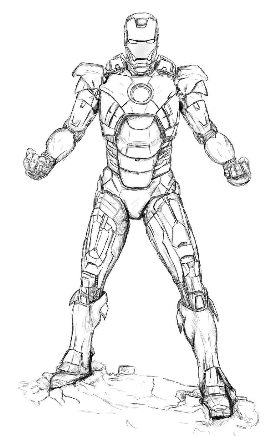 Wonderful iron man coloring pages for kids for Coloring pages man