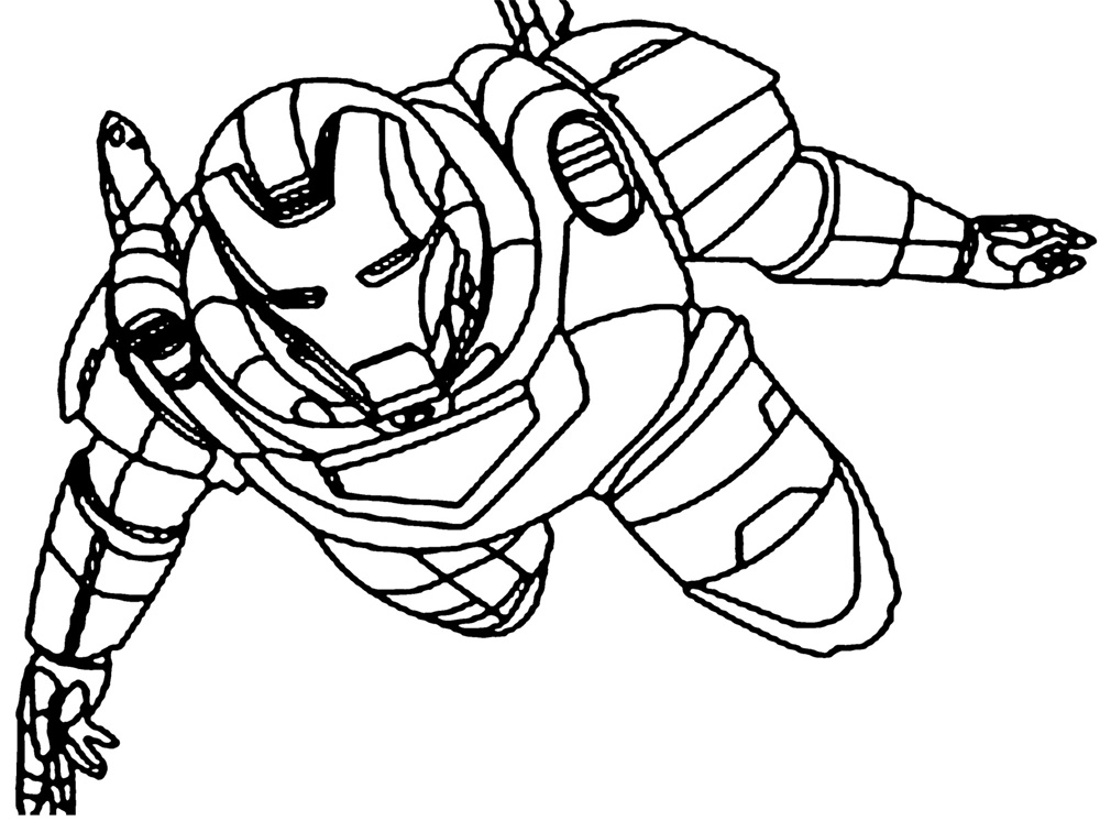 Wonderful Iron Man Coloring Pages