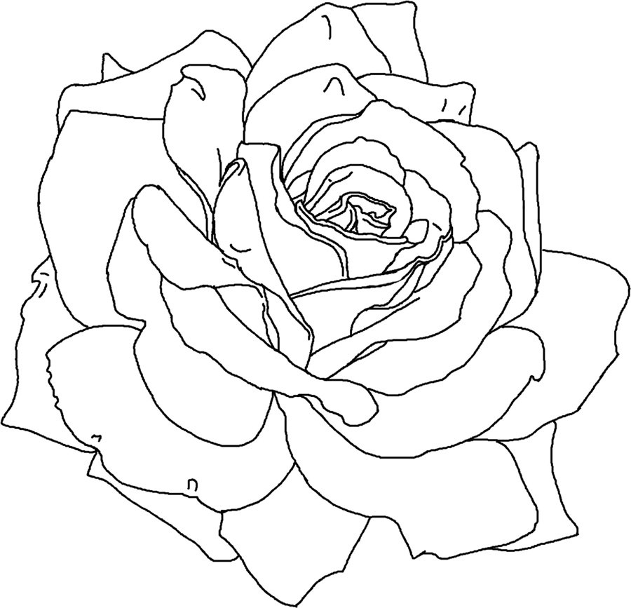 pretty flowers coloring pages - photo#17