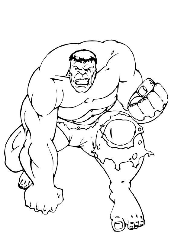 Red Hulk Coloring Pages