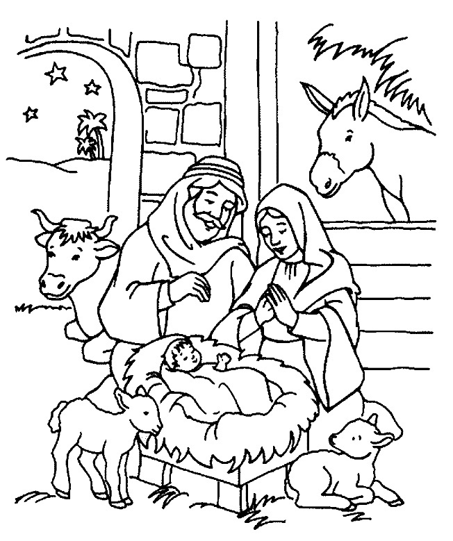 Christmas coloring page for kids for Kids holiday coloring pages
