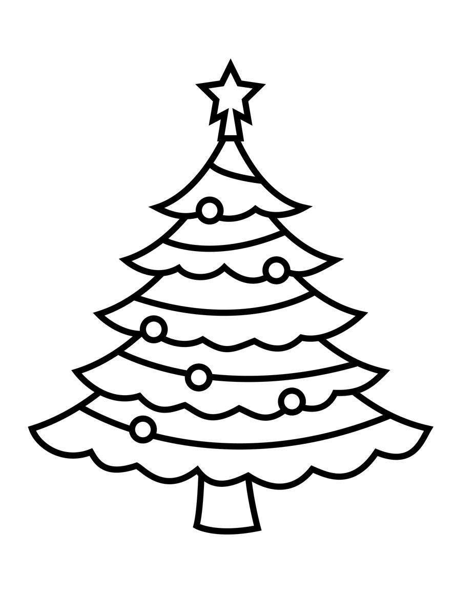 easy coloring pages christmas - photo#5
