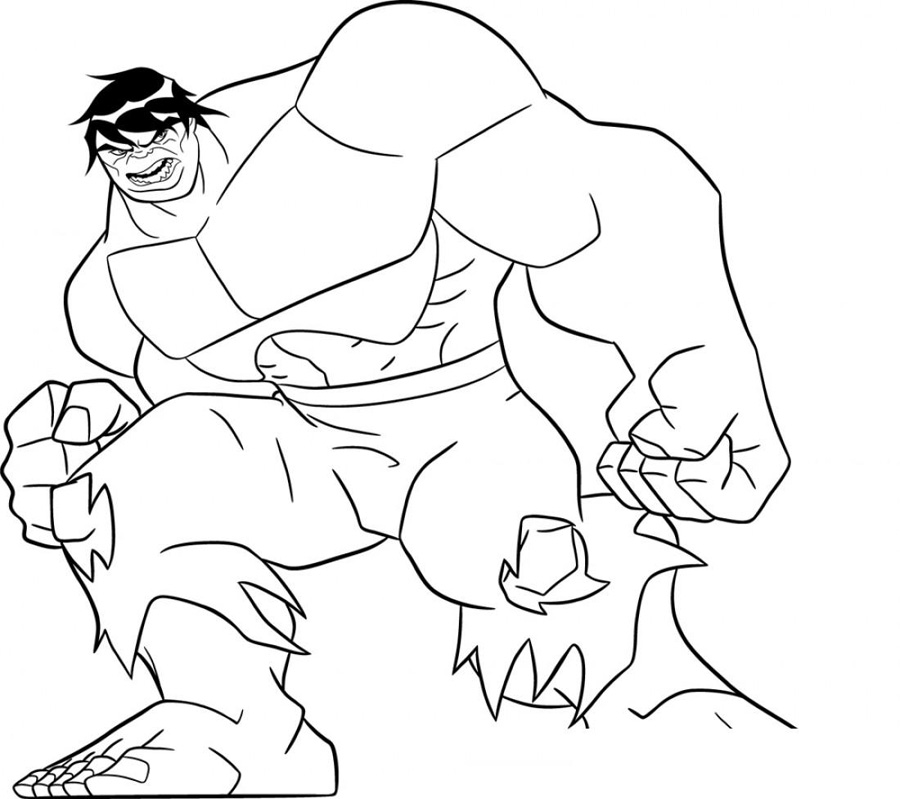 Super Hero Squad Hulk Coloring Pages