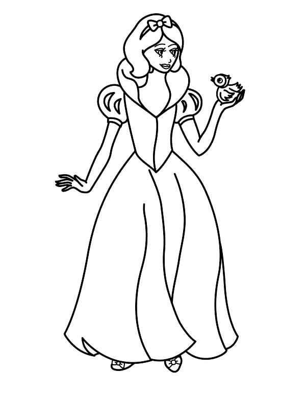 Beautiful Snow White Coloring Pages