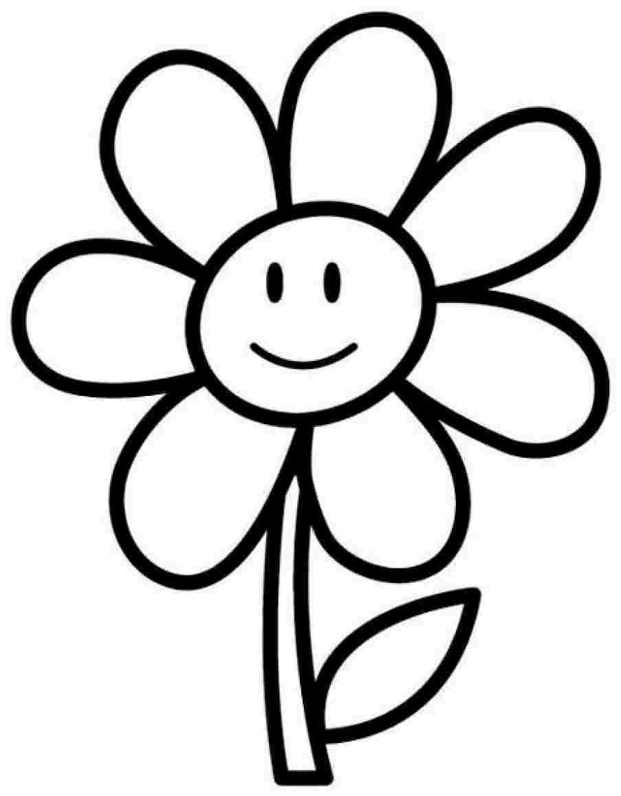 25 flower coloring pages to color for Coloring pages for kids flowers