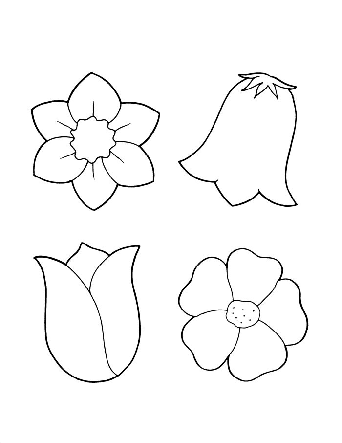 pre school flower coloring pages - photo#34