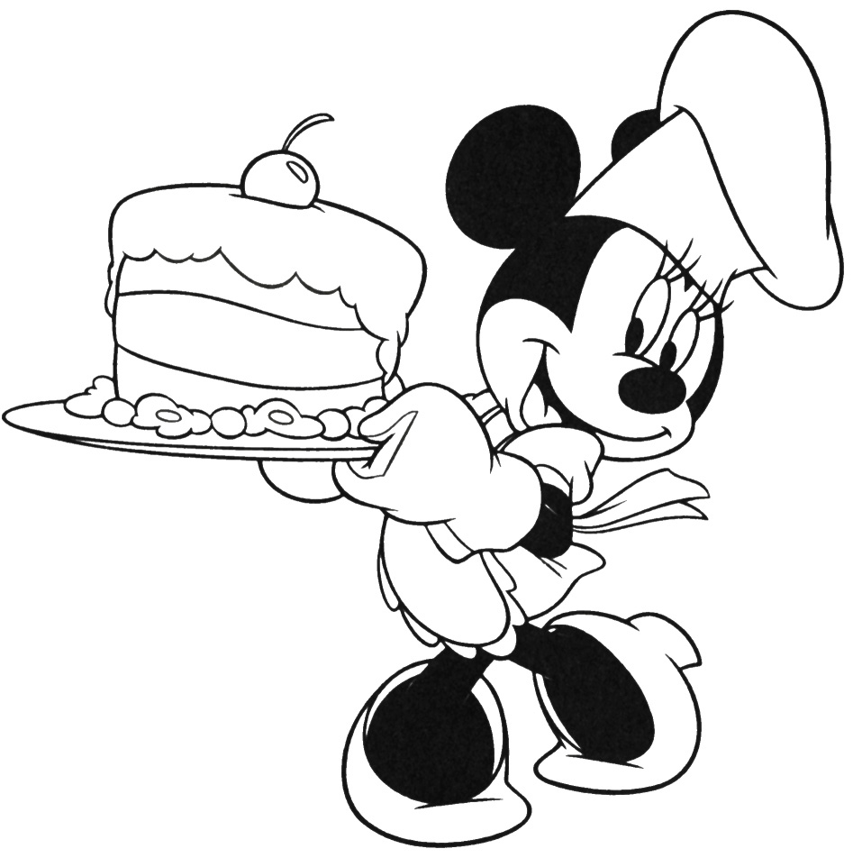 mickey mouse birthday coloring pages