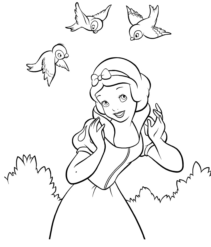 Snow White Colouring Pages