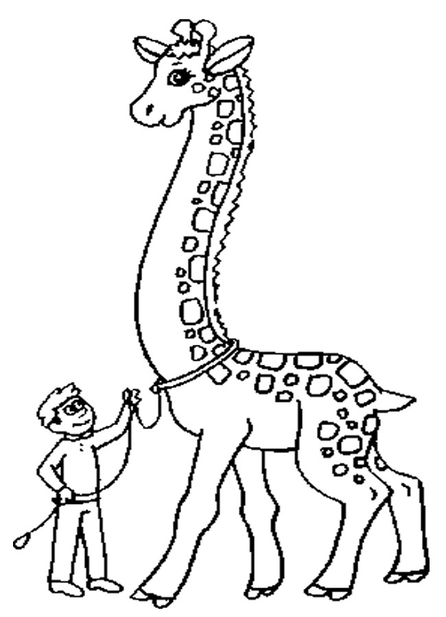 Printable giraffe coloring pages for free download for Giraffe coloring pages to print