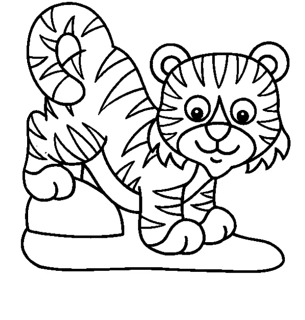 Tiger Coloring Pages For Kids Printable