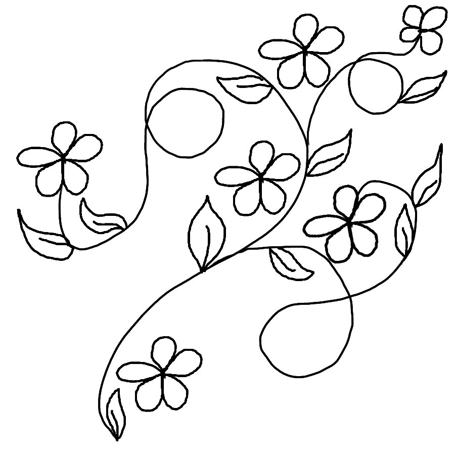 Flower Leaf Line Drawing : Leaves coloring pages download