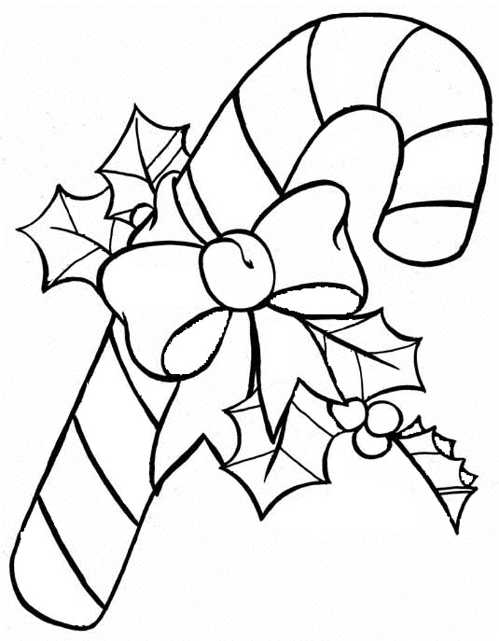 candy cane coloring page free - Candy Cane Coloring Page