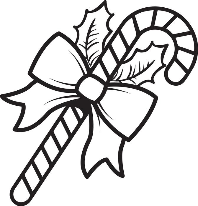 Candy cane coloring page free for Candy color pages