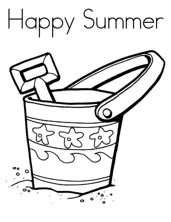 Happy Summer Coloring Pages