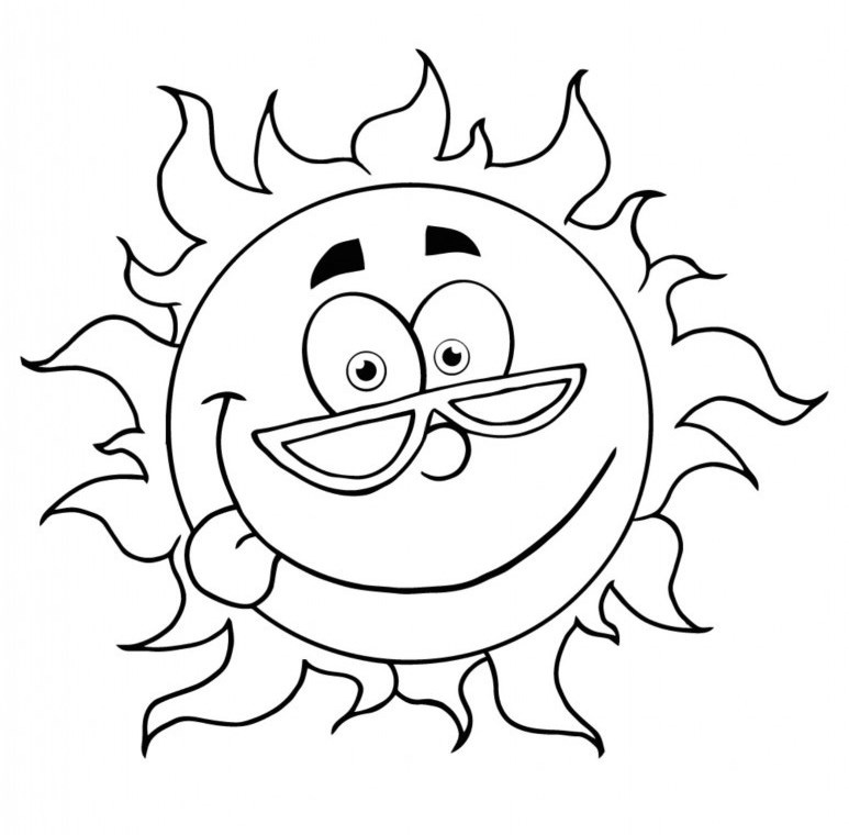 Summer Coloring Pages For Kindergarten