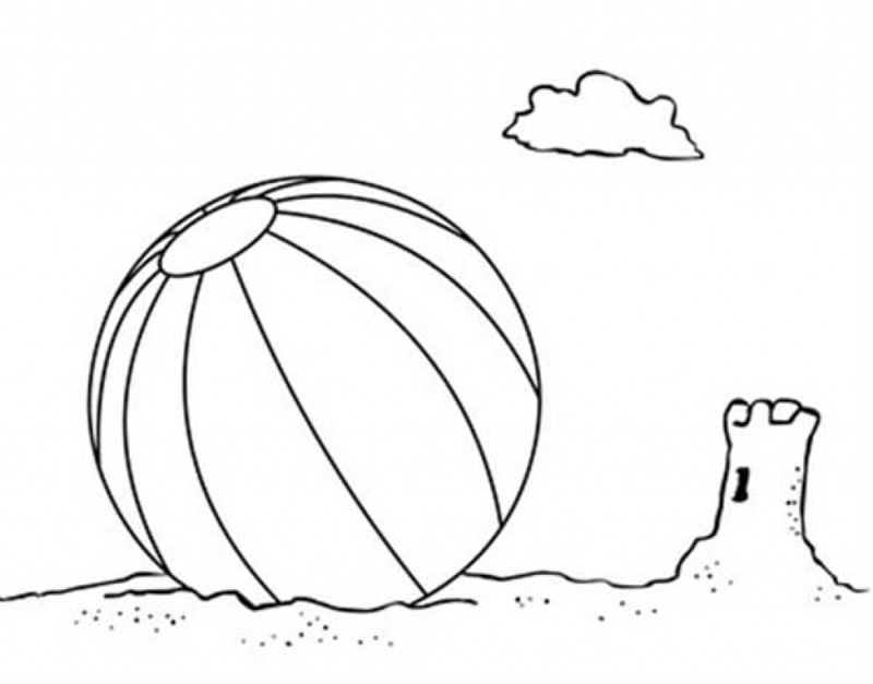 Download Beach Coloring Pages